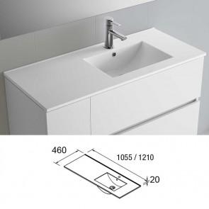 Cotas Lavabo porcelana IBERIA 120 Izq/dcha 1210x20x460 mm blanco 20746