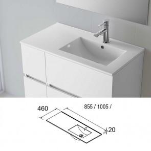 Lavabo porcelana IBERIA 1005 Izquierda Salgar 1005x20x460 mm blanco 20743