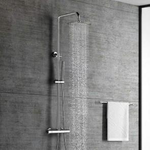 Sistema de ducha termostática IRIS Aquassent de acero regulable en altura