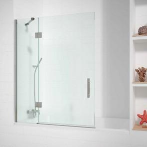 Mampara de bañera Acero INOX. JAMAICA de GlassInox. Fijo + Hoja Abatible