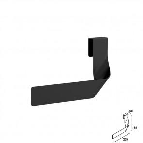 Toallero sencillo JAZZ fondo 35, 40, 45 y 50 NEGRO 235 x 125 x 68 mm