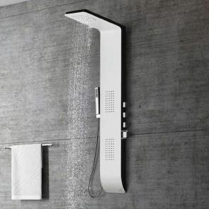 Columna Hidromasaje termostática KIARA blanca y negra de altura 145 cm