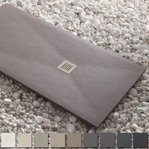 Plato de ducha resina ESSENCIAL de Kretta carga mineral HASTA 200 cm