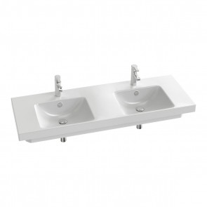 Lavabo plano doble 140 x 50 cm ODEON UP blanco JCD-E4779