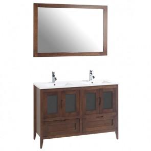 Mueble de baño rústico Leon 140 cm  y lavabo