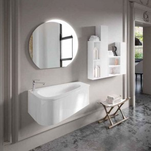 Mueble de baño LOOP Inve 90 cm blanco lacado con LAVABO
