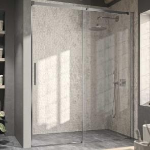 Mampara de ducha frontal LUNA LU102 Kassandra. Frontal con 1 puerta corredera