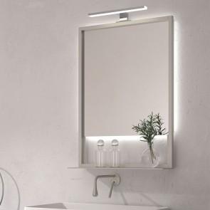 Espejo de baño MARGARITA 50x70 cm con marco metálico y luz LED