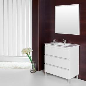 Mueble de baño MAS Verrochio blanco brillo con LAVABO