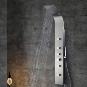 Columna Hidromasaje termostática de acero inoxidable MELIANA de altura 165 cm