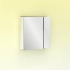 Camerino con espejo MIDORI 60 cm de 2 puertas y dos estanterías en Blanco Brillo
