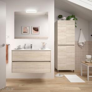 Mueble de baño NOJA Salgar 100 cm con LAVABO Roble Caledonia