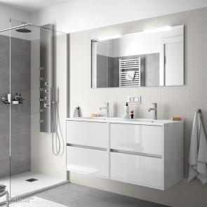 Mueble de baño NOJA Salgar 120 cm con LAVABO Blanco Brillo