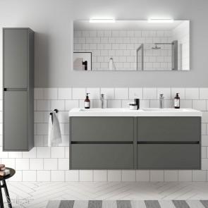 Mueble de baño NOJA Salgar 140 cm con LAVABO Gris mate