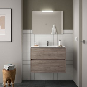 Mueble de baño NOJA Salgar 80 cm con LAVABO Roble Eternity