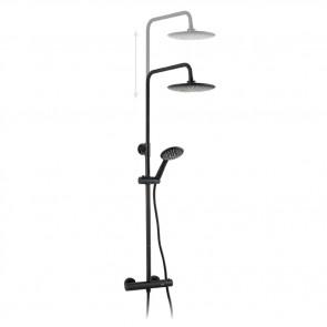 Sistema de ducha termostática NUCK COLORS - NEGRO/BLANCO de Buades
