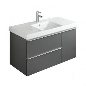 Mueble de baño ODEON UP de 105 cm 2 cajones + 1 puerta gris antracita de Jacob Delafon