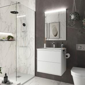 Mueble de baño OPTIMUS Salgar 60 cm con LAVABO Blanco