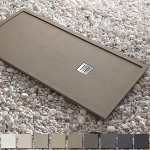 Plato de ducha resina ESSENCIAL ENMARCADO de Kretta carga mineral HASTA 200 cm