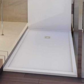 Plato de ducha resina ENMARCADO QUATTRO de carga mineral y gel coat de BSurface