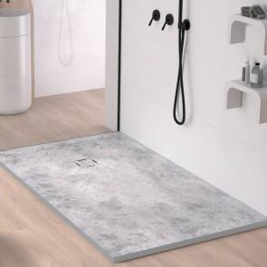 Plato de ducha resina MICROCEMENTO de DUPLACH de carga mineral y gel coat