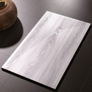 Plato de ducha resina MADERA VINTAGE de DUPLACH de carga mineral y gel coat