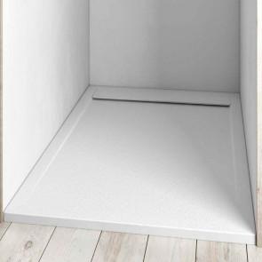 Plato de ducha semi enmarcado resina CLEAN en carga mineral y gel coat