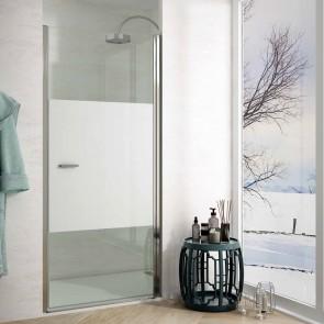 Mampara de ducha frontal SITGES. Frontal de puerta Abatible. A MEDIDA.