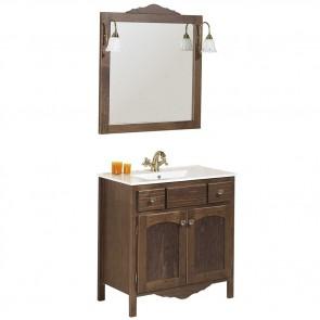 Mueble de baño rústico RONDA con patas 80 cm con LAVABO