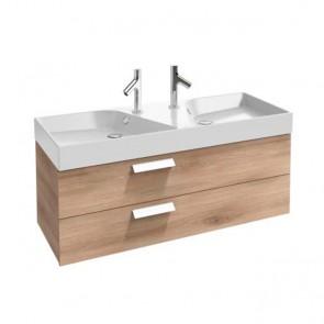 Mueble de baño 2 cajones doble seno acabado Roble Arlington RYTHMIK de Jacob Delafon