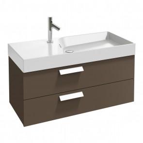 Ambiente mueble de baño 2 cajones RYTHMIK 100 cm acabado Gris Topo de Jacob Delafon