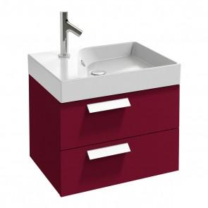Mueble de baño RYTHMIK 60 cm 2 cajones acabado Frambuesa de Jacob Delafon
