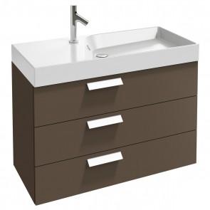 Ambiente mueble de baño 3 cajones RYTHMIK 100 cm acabado Gris Topo de Jacob Delafon