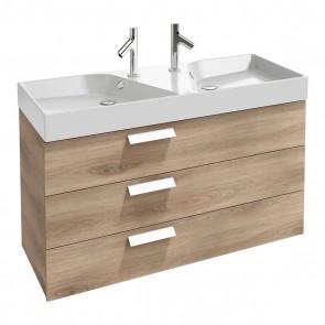 Mueble de baño 3 cajones doble seno acabado Roble Arlington RYTHMIK de Jacob Delafon
