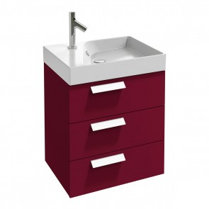Mueble de baño RYTHMIK 60 cm 3 cajones acabado Frambuesa de Jacob Delafon