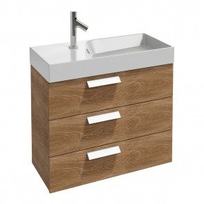 Mueble de baño 3 cajones RYTHMIK 80x36 cm acabado Roble Arlington de Jacob Delafon