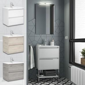 Mueble de baño S40 FONDO REDUCIDO Salgar 50 cm con LAVABO acabdos disponibles