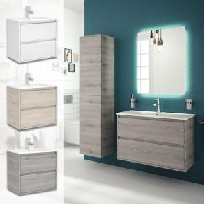 Mueble de baño S40 FONDO REDUCIDO Salgar 80 cm con LAVABO acabdos disponibles