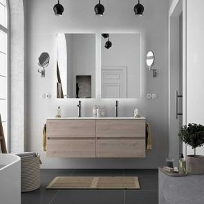 Mueble de baño MODULAR FUSSION LINE Salgar 4 cajones de 170 cm (70+70) con LAVABO doble