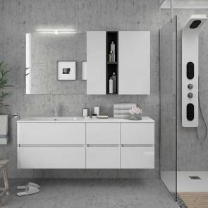 Mueble de baño MODULAR FUSSION LINE Salgar 2 cajones de 160 cm (80+40+40) con LAVABO desplazado