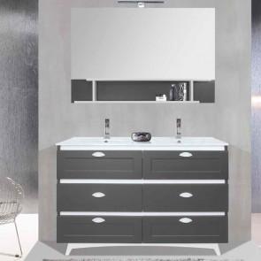 Mueble de baño SEDA 10 150 cm con 6 cajones y patas VERROCHIO