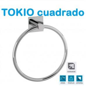SERIE COMPLETA. Accesorios de Baño TOKIO CUADRADO de Salgar.