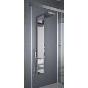Columna hidromasaje termostática 154 cm DUPLO Inox cromo 17863