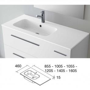 Lavabo carga mineral SOFIA 1405 Encimera a la Derecha MineralMarmo color blanco 24807