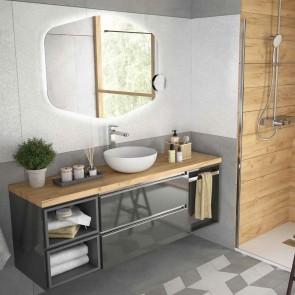 Mueble de baño MODULAR SPIRIT Salgar de 160 cm (40+80+40)