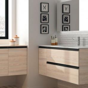 Mueble de baño MODULAR SPIRIT Salgar de 105 cm (50+25) con LAVABO desplazado