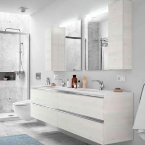 Mueble de baño SPIRIT Salgar 4 CAJONES suspendido 160 cm (80+80) con LAVABO doble