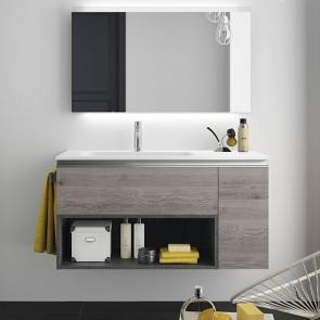 Mueble de baño MODULAR SPIRIT Salgar de 105 cm (80+25) con LAVABO desplazado