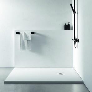 Plato de ducha resina STONE COAT de de carga mineral y gel coat PLUS Blanco