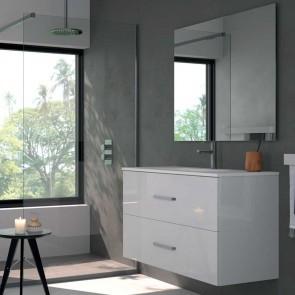 Mueble de baño TEIDE Duplach 2 cajones con LAVABO blanco